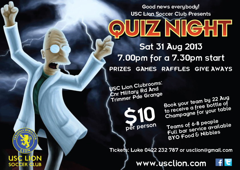 Quiz Night | USC Lion Soccer Club