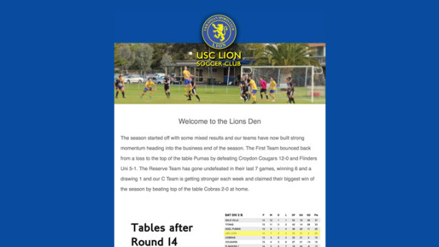 USC Lion Newsletter