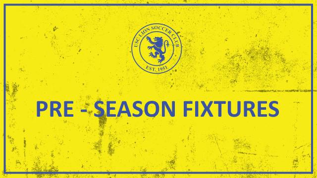 Pre-season Fixtures