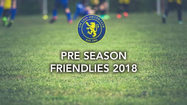 Pre Season Friendlies 2018